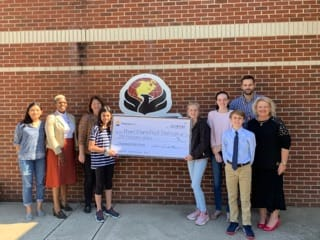 Mount Mourne Middle School check presentation
